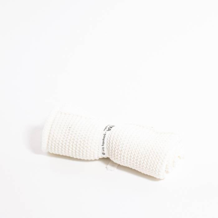 Grace and Green - Iris Hantverk - Washcloth - White 2