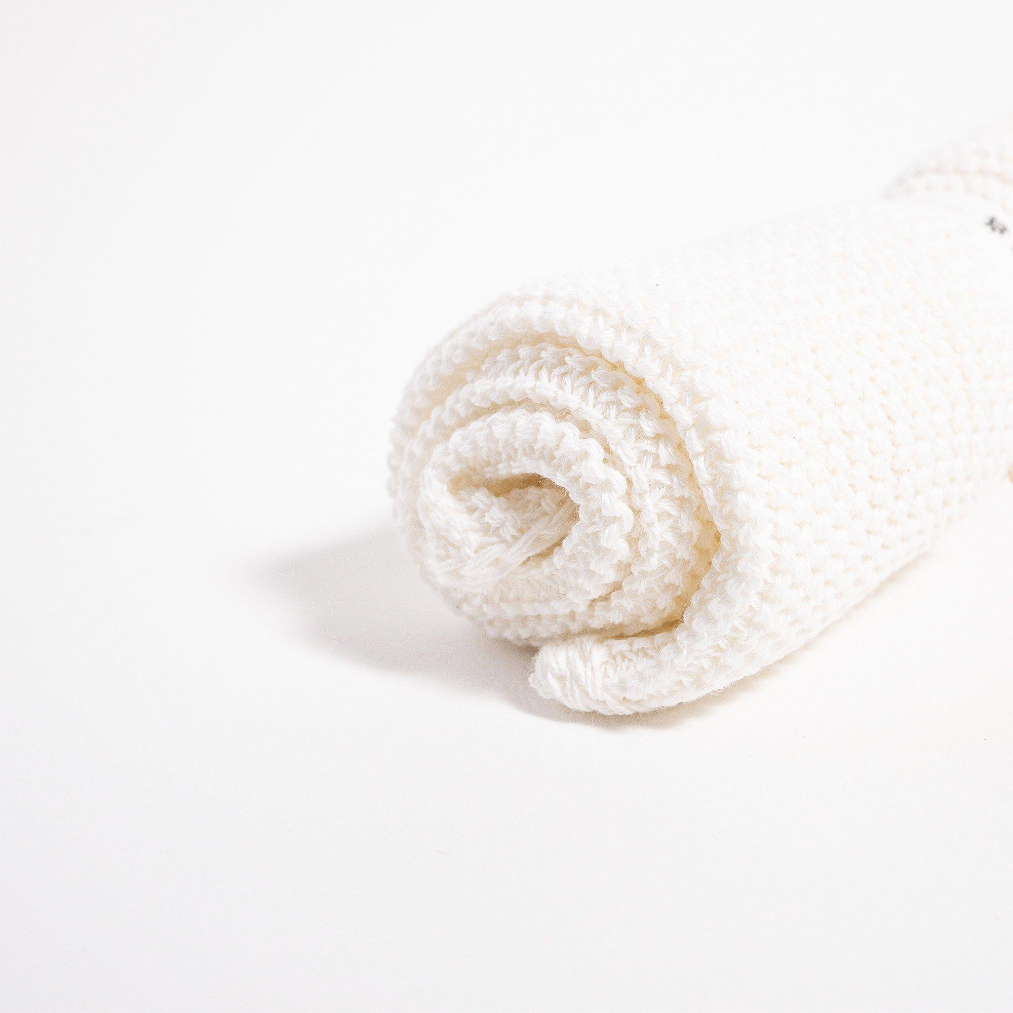 Grace and Green - Iris Hantverk - Washcloth - White 3