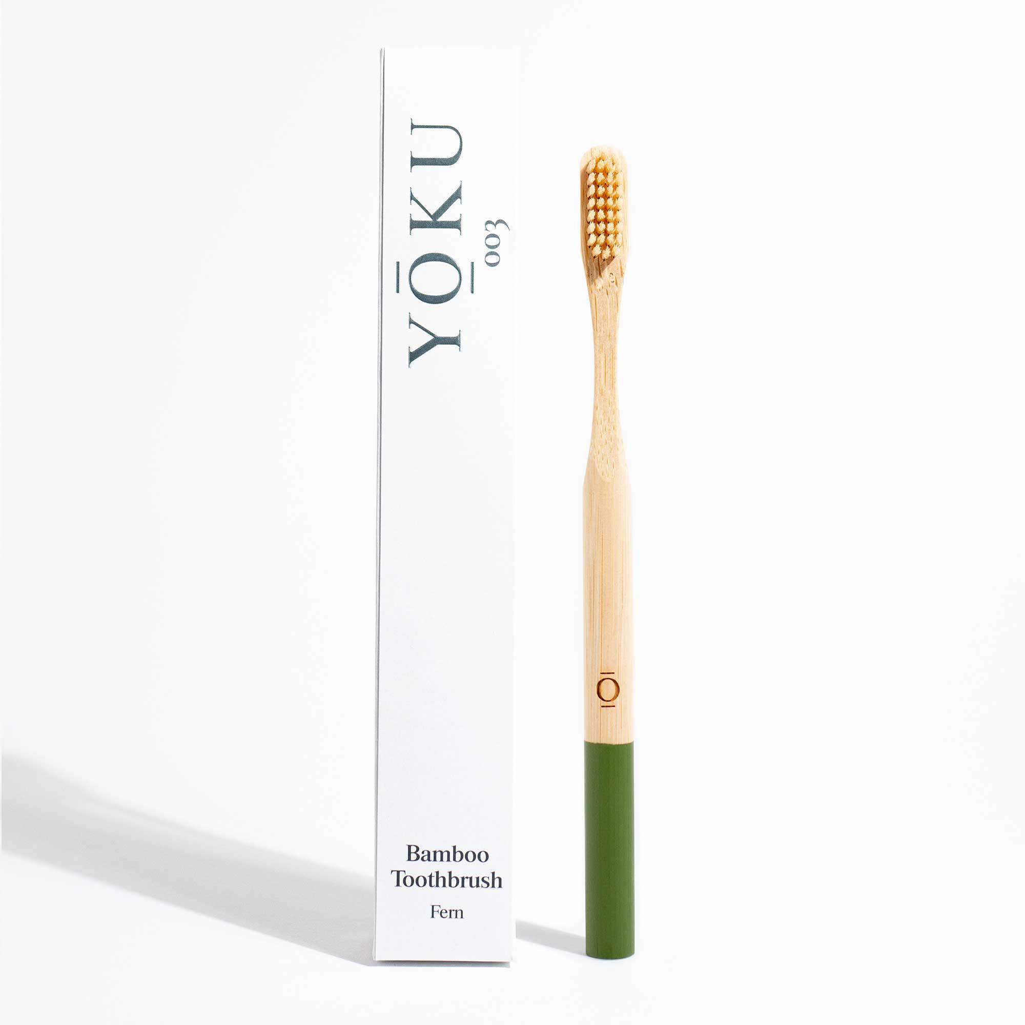 Grace and Green - YOKU Bamboo Toothbrush - Fern 1