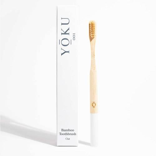 Grace and Green - YOKU Bamboo Toothbrush - Oat