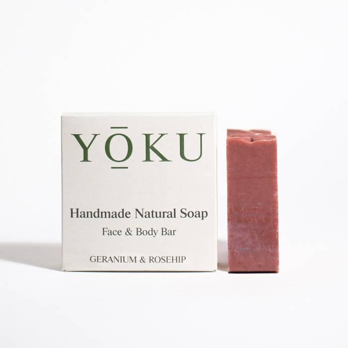 Grace and Green - YOKU soap - Geranium & Rosehip 1